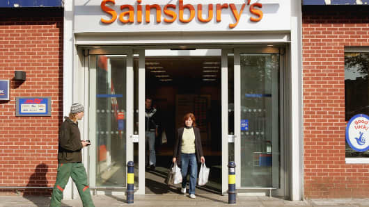 Sainsbury's grocery sales held back by weaker Christmas at Argos