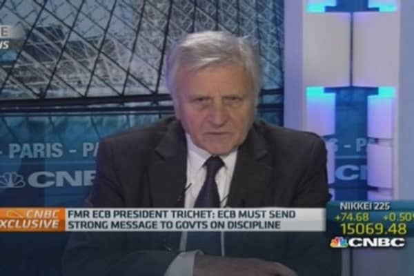 Real economy not 'working correctly': Trichet