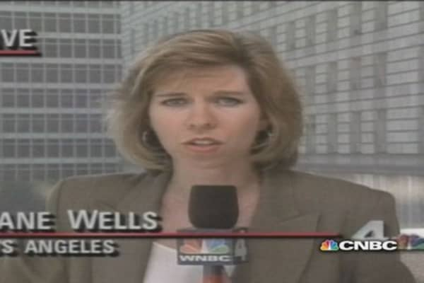 Jane Wells covers OJ Simpson criminal trial