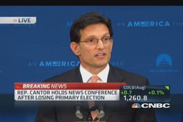Eric Cantor: Honor to serve as majority leader