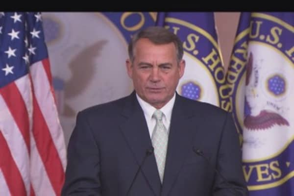 Boehner: Need to resolve major leader issue
