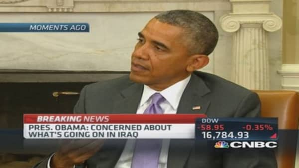 Pres. Obama: Clearly an emergency in Iraq