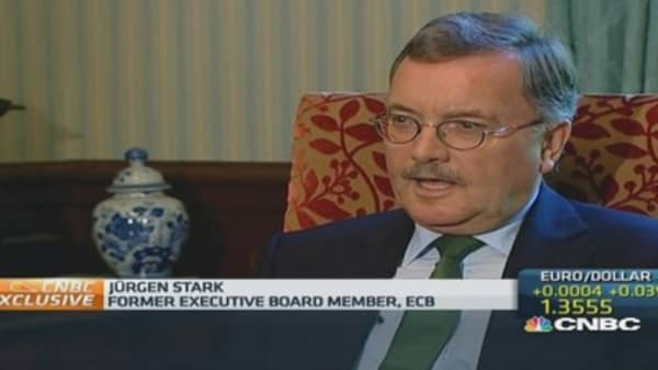 Low inflation discussion 'irrational': Ex-ECB board member