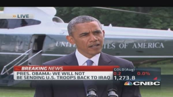 Pres. Obama: US not sending troops to Iraq