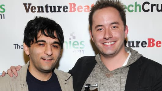 Arash Ferdowsi and Drew Houston, co-founders of Dropbox