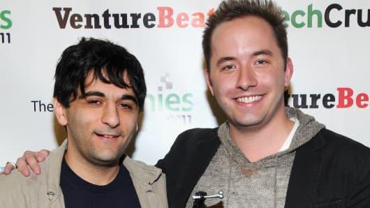 Arash Ferdowsi and Drew Houston, co-founders of Dropbox