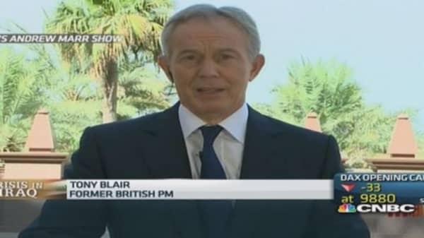 Iraq violence not my fault: UK's Tony Blair