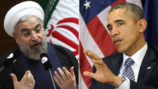 Iranian President Hassan Rouhani and President Barack Obama.