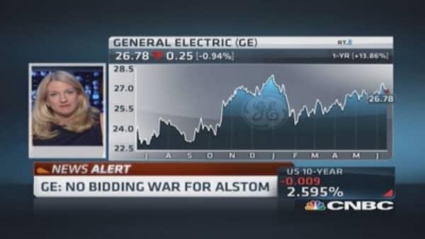 GE: No bidding war for Alstom