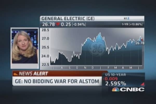 GE: No bidding war for Alstom