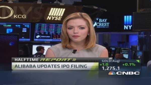 Alibaba updates IPO filing