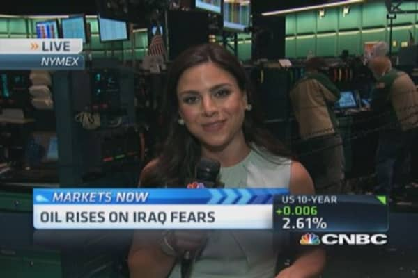 Oil prices rise on Iraq fears