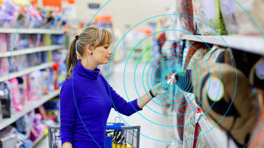 NFC provides consumers with product data, special offers and loyalty rewards.