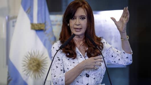 President of Argentina, Cristina Fernandez de Kirchner.