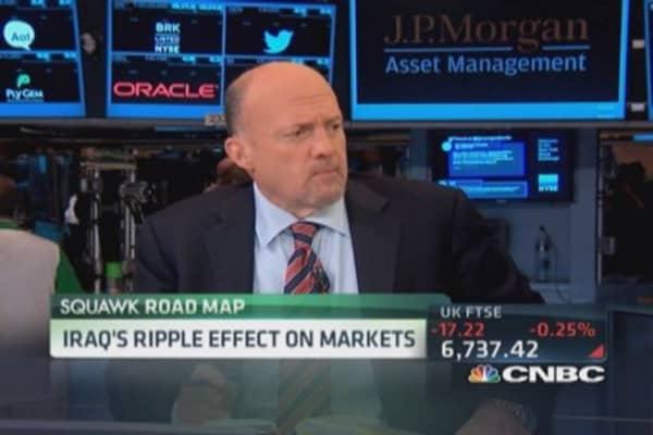 Cramer: Not cheering this market
