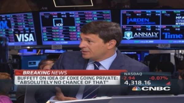 Buffett: No chance Coke would go private