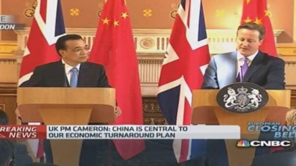 UK-China trade at 'record ': PM Cameron