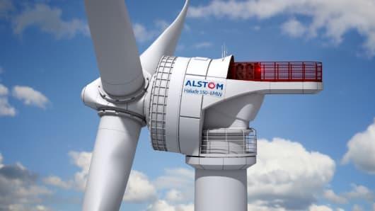 Alstom wind turbine.