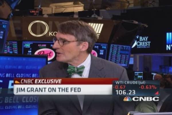 Jim Grant: Fed intervention set dangerous course
