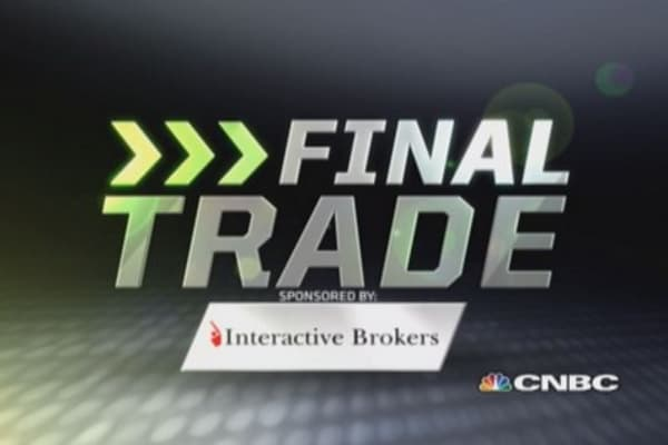 Fast Money Final Trade: P, WYMM, MSFT, NCR