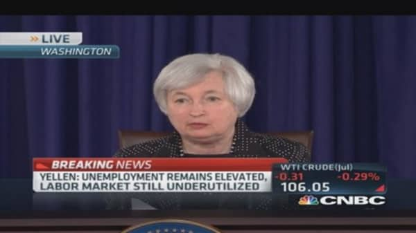 Fed Chair Yellen: Unemployment remains elevated