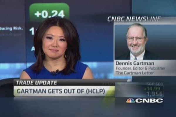 Gartman: Folding on fracking (HCLP)