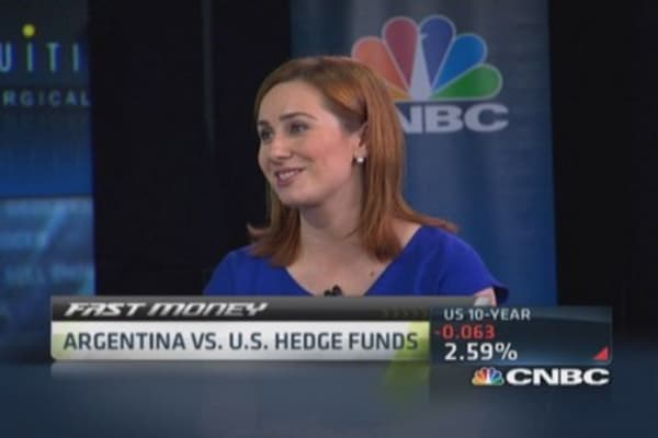 Hedge funds stare down Argentina