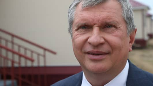 Rosneft chief executive Igor Sechin.