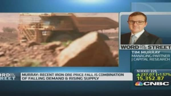 Is there an oversupply in iron ore?