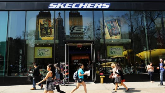 A Skechers store in New York City