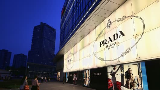 A Prada store in Beijing.