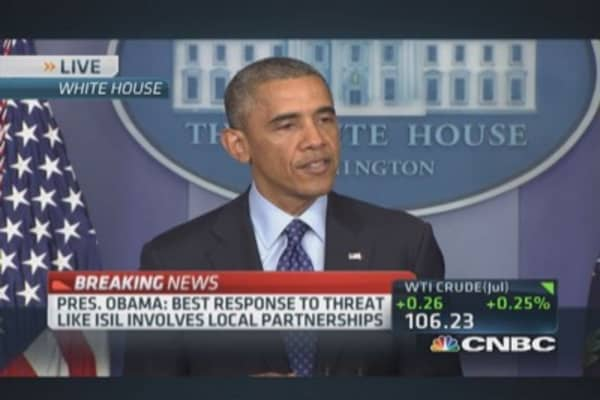 President Obama: Increasing support of Iraqi security forces