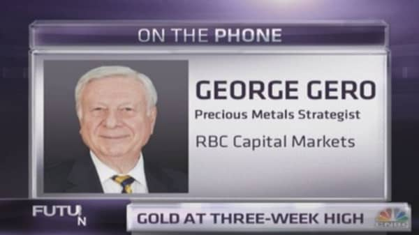 RBC's George Gero: Why gold is so hot today