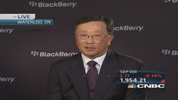 BlackBerry CEO: We're not for sale