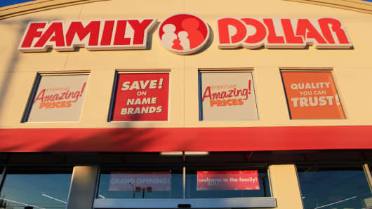 A Family Dollar Stores store location in Mansfield, Texas.