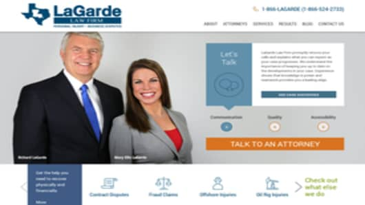 LaGarde Law Firm's Website