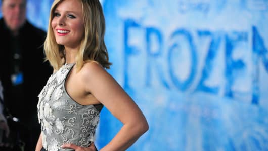 Actress Kristen Bell attending the premiere of Walt Disney Animation Studios' 'Frozen'.