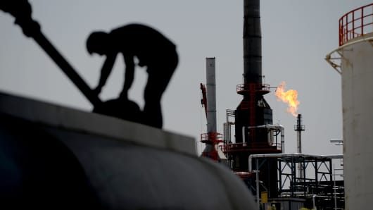 Erbil Refinery in Iraq, where attacks and unrest have caused a fuel crisis in Iraq.