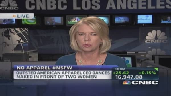 Ousted American Apparel CEO's naked boogie