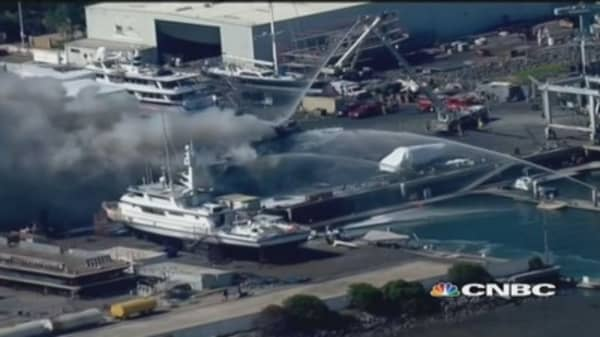 $24 million yacht destroyed by fire