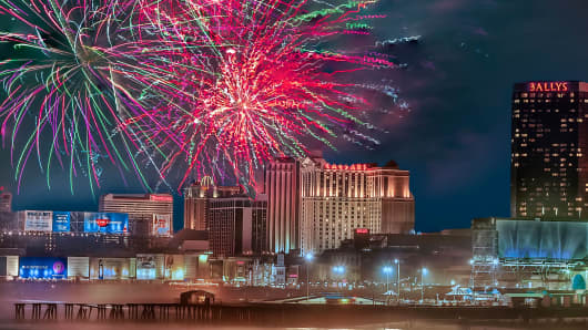 Atlantic City, New Jersey, hosts one of the largest fireworks displays in the United States.