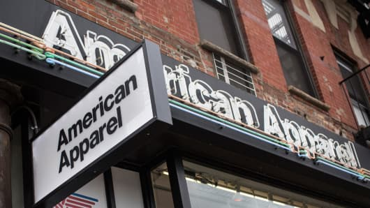 An American Apparel store on June 19, 2014 in New York City.