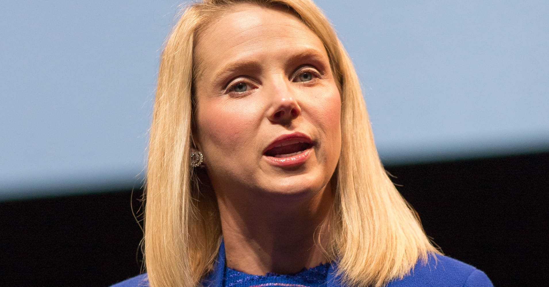 Yahoo's chief executive, Marissa Mayer, speaks at the 2014 Cannes Lions in June in Cannes, France.