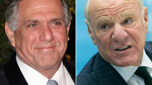 CBS CEO Leslie Moonves and IAC/InterActiveCorp Chairman Barry Diller