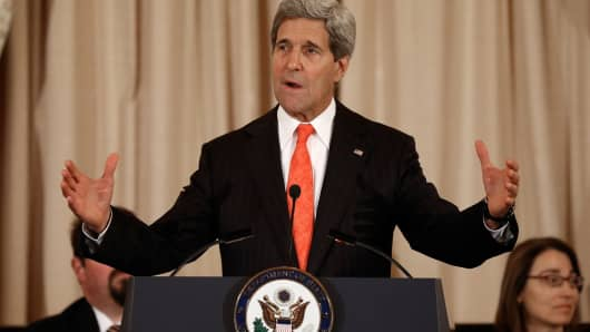 File photo: Secretary of State John Kerry.