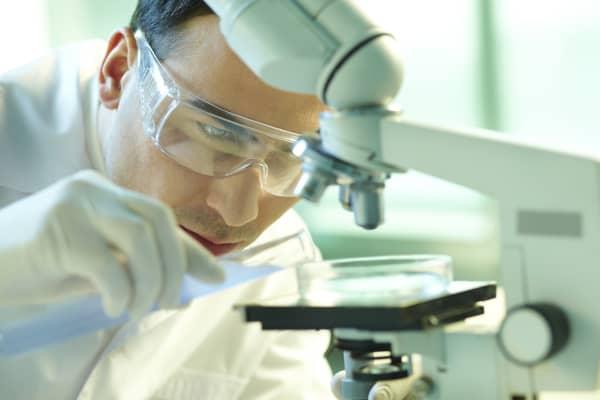 Biotech research microscope