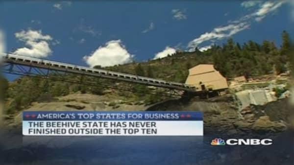 CNBC's Top State for Business: Utah is No. 3