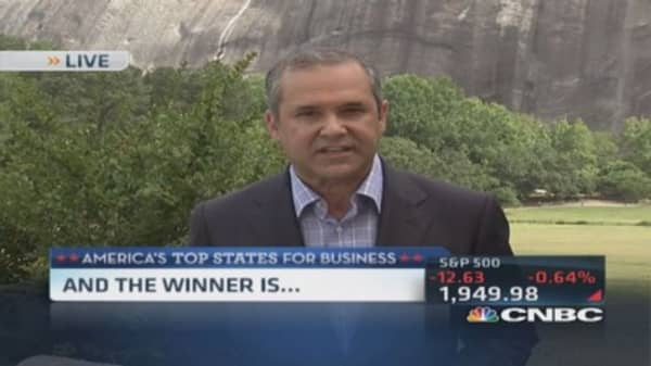 CNBC's 'Top State for Business' is...