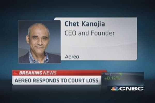Aereo responds to court loss