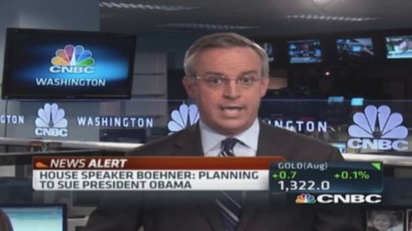 Boehner says Obama abusing executive powers